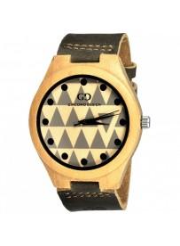 Giacomo Design klocka Chiusa av Bambu, aztec mönster