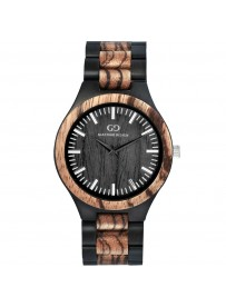 Giacomo Design klocka Chiusa av svart sandelträ/zebraträ