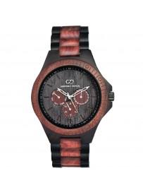 Giacomo Design klocka Chiusa i svart/röd sandelträ